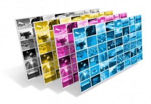CMYK printing concept